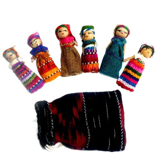 Worry dolls, 6 pieces in a bag