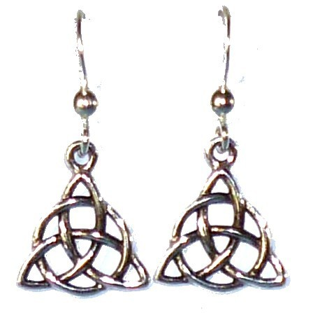 Earrings, Triquetta Charmed