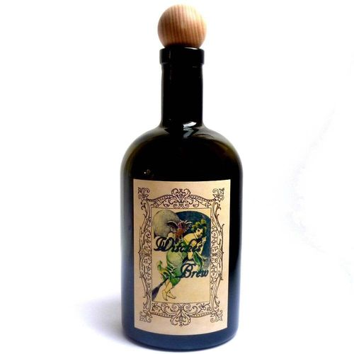 Alchemist Bottle Witches Brew with owl