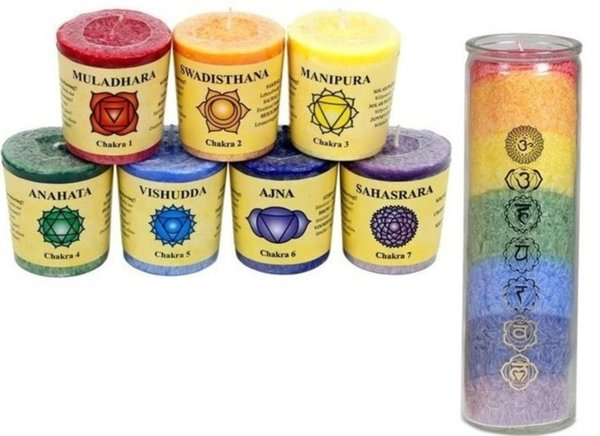 Chakracandles, Chakra candles with and without fragrance,