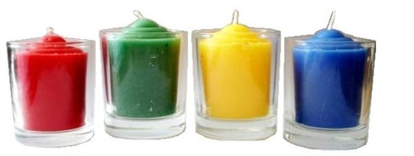 Votive candle in glass