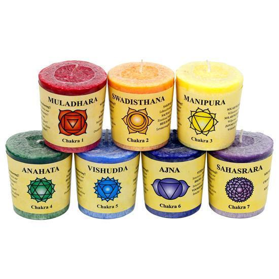 Chakra Votive scented candles