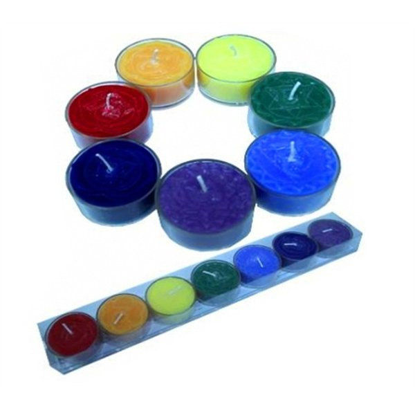 7 pieces of Chakra scented tealights