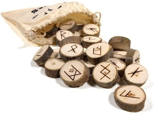 Rune Set of Wood in cotton bag
